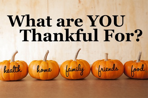 what are you thankful for pumpkins